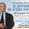 Capo d' Orlando : Venerdì 27 maggio presentazione del LIbro  «Il dovere di avere doveri» di Luciano Violante