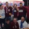 Basket serie A2 : L' Orlandina vince il derby a Trapani. Bellissima iniziativa a fine primo tempo tra i tifosi Biancoazzurri e Granata . Video