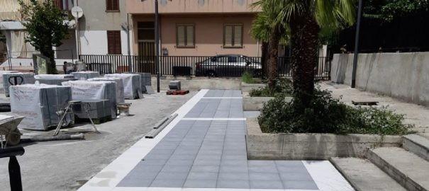 Capo d' Orlando : Iniziati i lavori di completamento della villetta di contrada Piscittina.